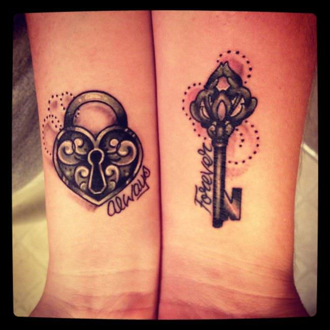 Lovers matching tattoos for Matching Tattoos