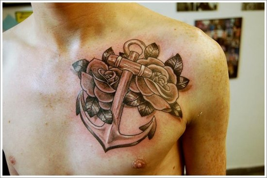 Anchor Tattoo Meaning and Designs (3)