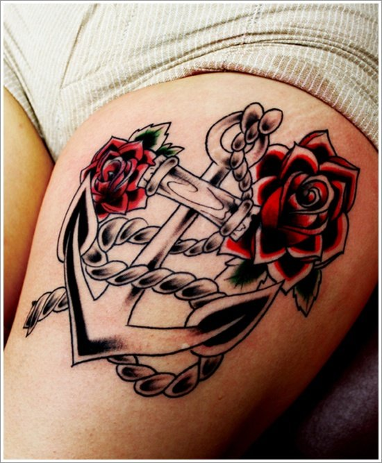 Anchor Tattoo Meaning and Designs (6)