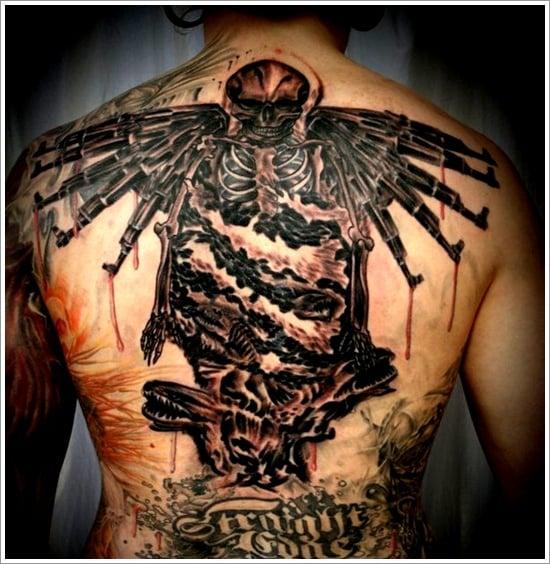 Bad ass demon tattoos sex porn images for Badass angel tattoos
