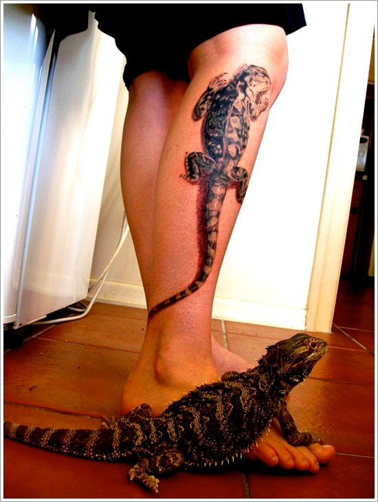 Lizard tattoo designs for women and men (10)