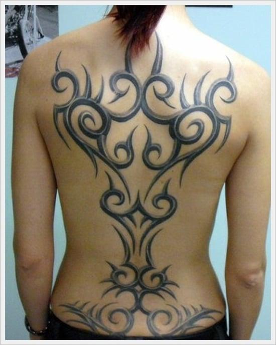 Tribal Back Tattoos Female