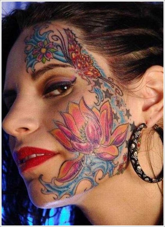 Face Tattoo Woman