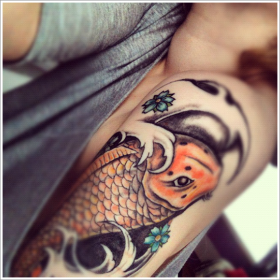 koi carp Tattoo Designs (2)