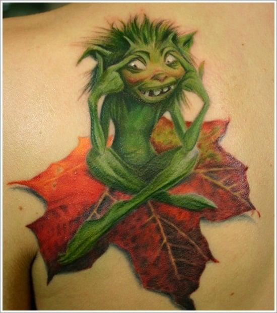 leaf tattoos (12)