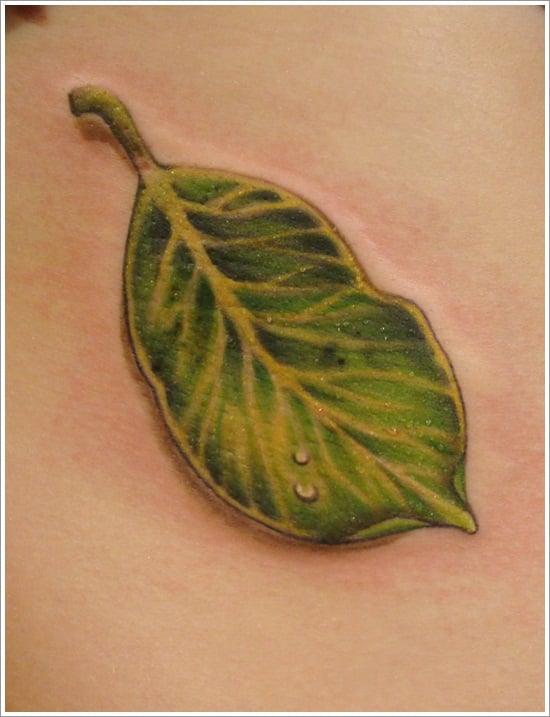 leaf tattoos (15)