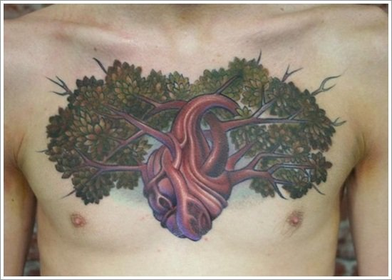 leaf tattoos (20)