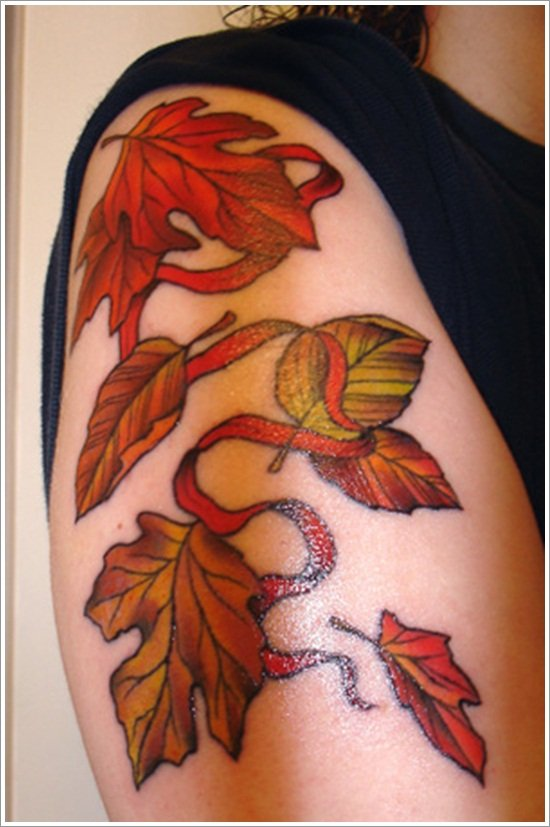 leaf tattoos (5)