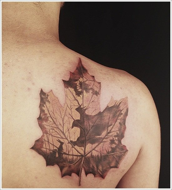 leaf tattoos