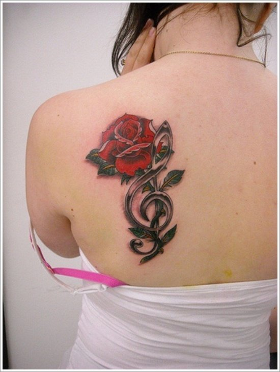 135 beautiful rose tattoo designs for women and men for Rose tattoo on back shoulder