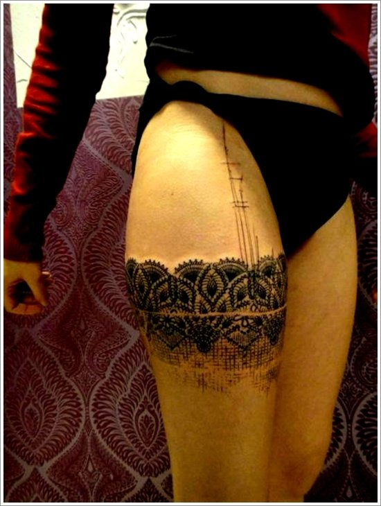 Cute Thigh Tattoos for Women