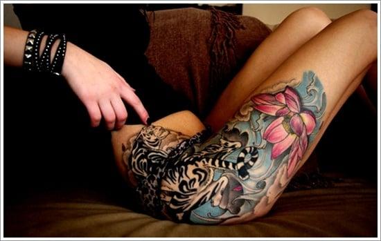 thigh tattoos for women (13)
