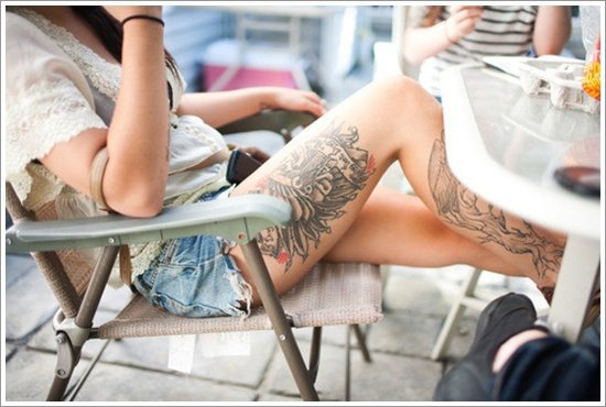 thigh tattoos for women (16)