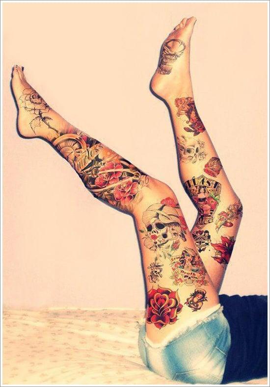 thigh tattoos for women (18)