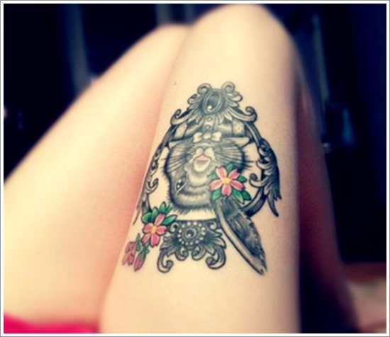 thigh tattoos for women (2)