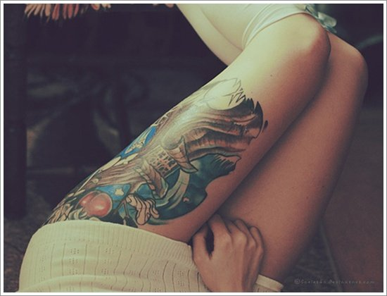 thigh tattoos for women (20)