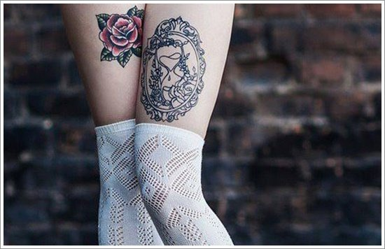 thigh tattoos for women (31)