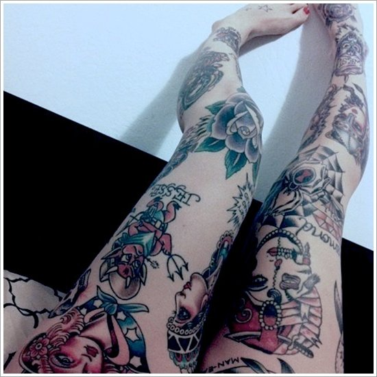 thigh tattoos for women (32)