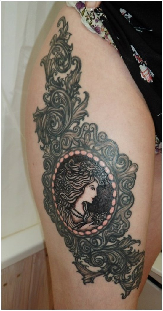 thigh tattoos for women (33)