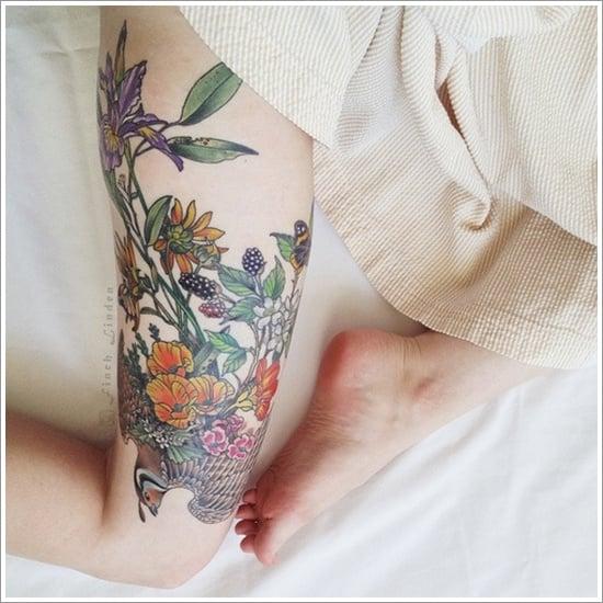 thigh tattoos for women (35)