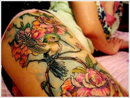 thigh tattoos for women (36)