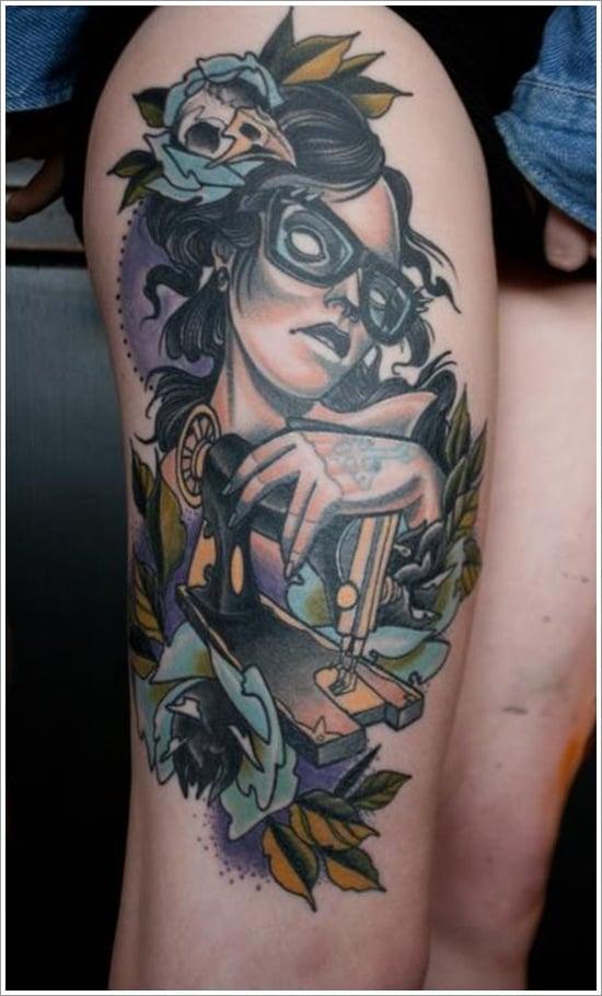 thigh tattoos for women (4)