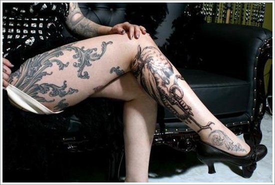 thigh tattoos for women (6)