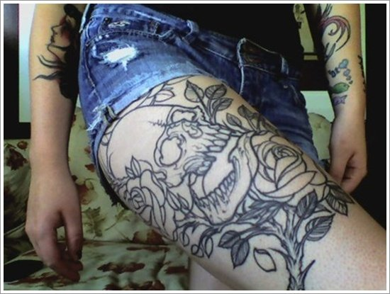 ... stunning examples of Sexy Thigh Tattoos For Women are shown below