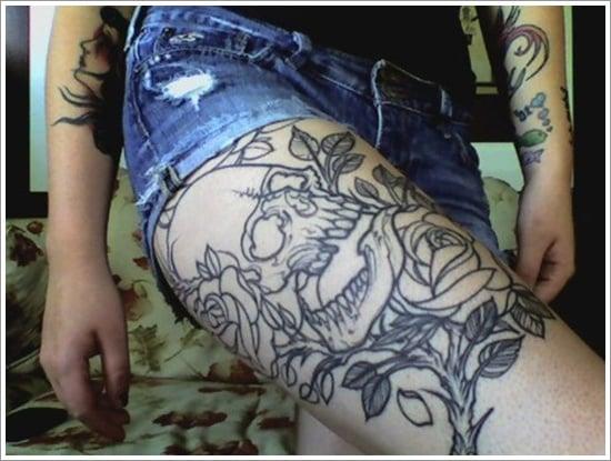 thigh tattoos for women (8)