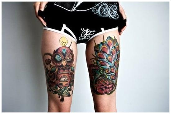 thigh tattoos for women (9)