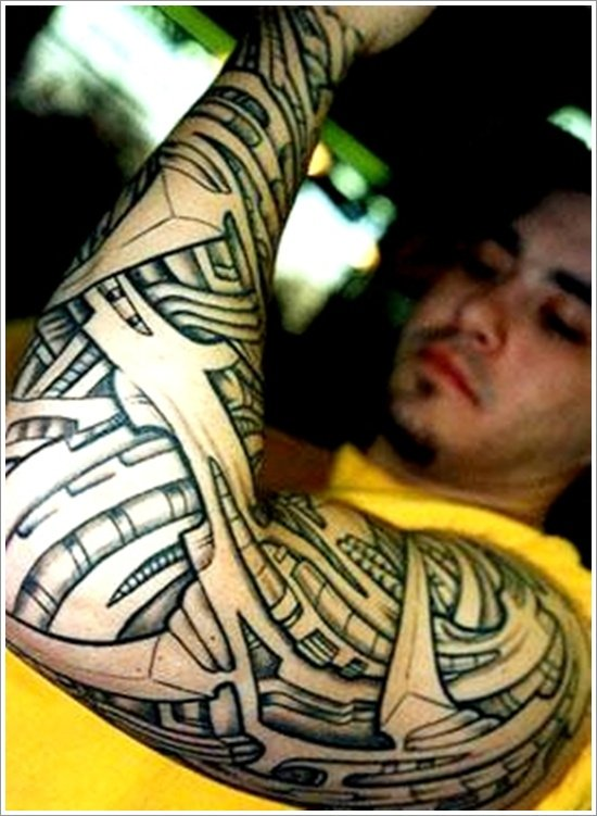 Biomechanical tattoo design (1)