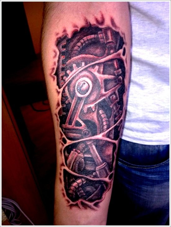Biomechanical tattoo design (10)