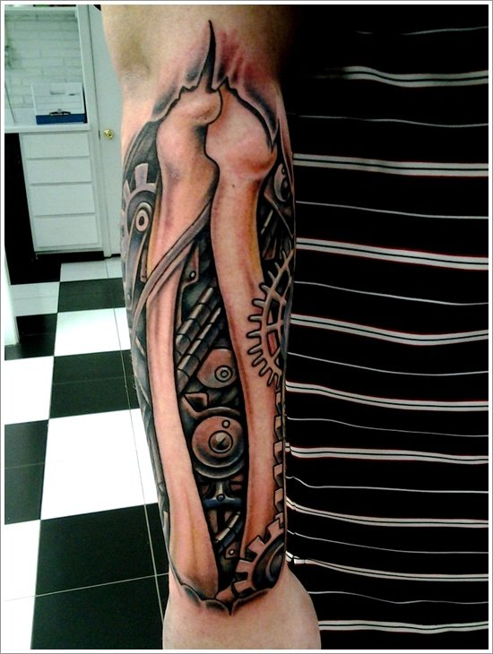Biomechanical tattoo design (11)