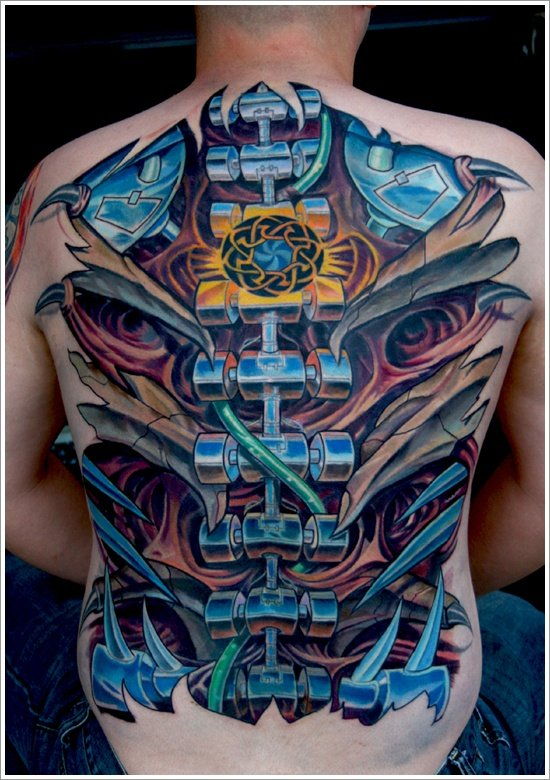 Biomechanical tattoo design (12)