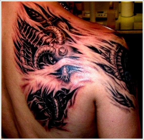 Biomechanical tattoo design (13)