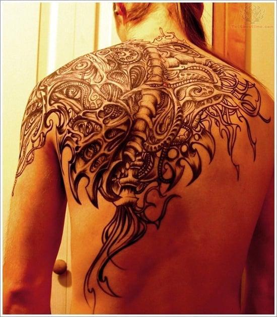 Biomechanical tattoo design (14)