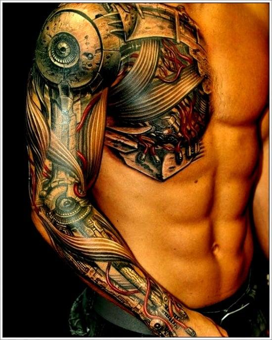 Biomechanical tattoo design (15)