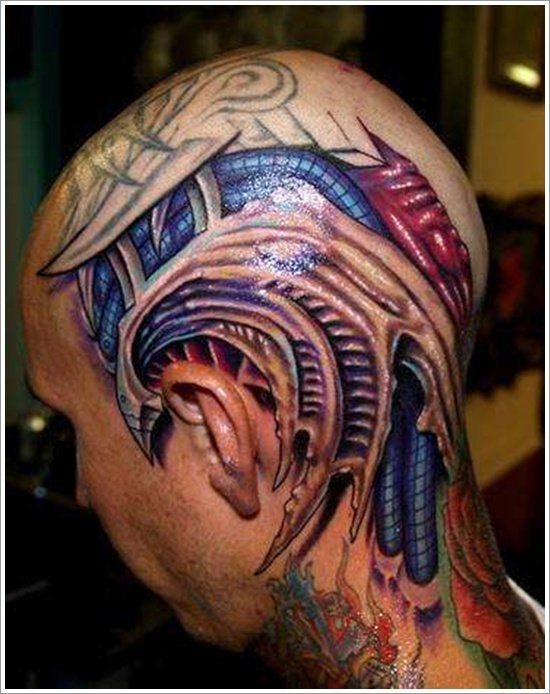 Biomechanical tattoo design (17)