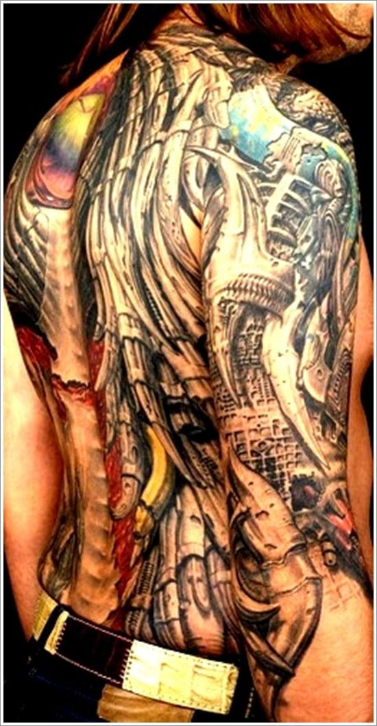 Biomechanical tattoo design (18)