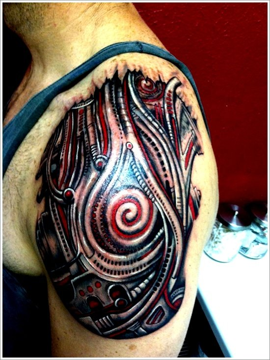 Biomechanical tattoo design (19)