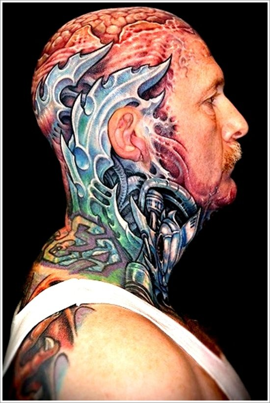 Biomechanical tattoo design (21)
