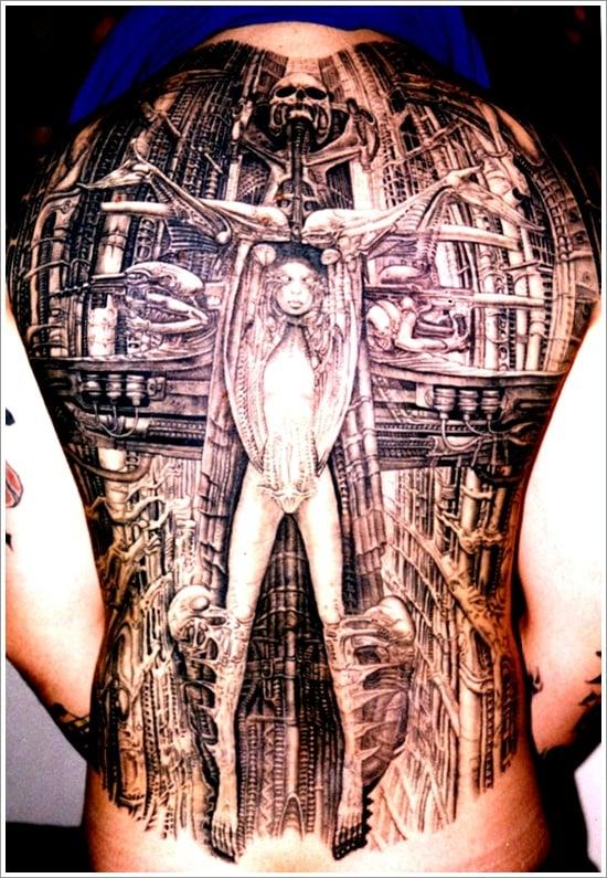 Biomechanical tattoo design (24)