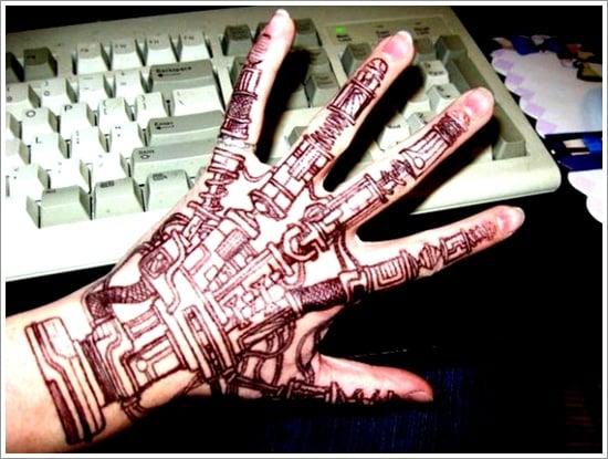 Biomechanical tattoo design (27)