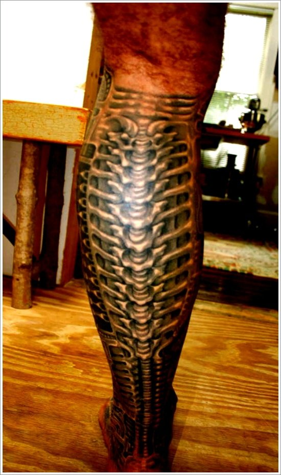 Biomechanical tattoo design (4)