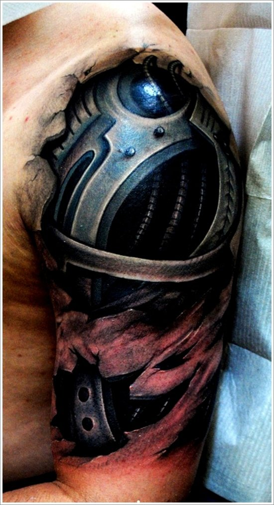 Biomechanical tattoo design (5)