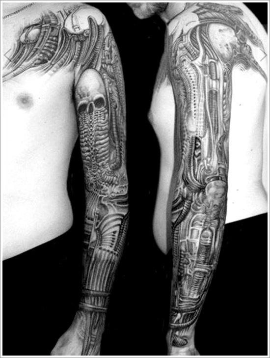Biomechanical tattoo design (8)