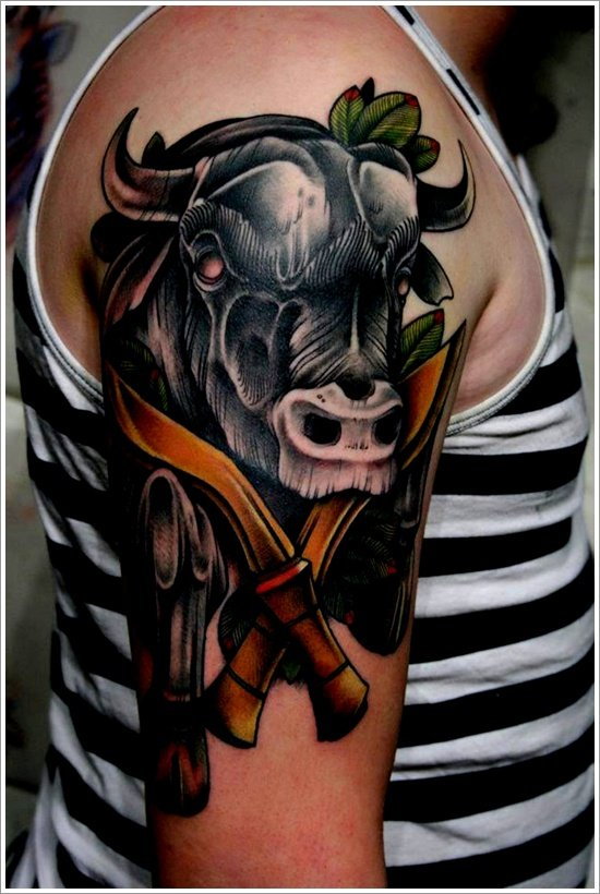 30 dandy bull tattoo designs for Bull tattoo meaning