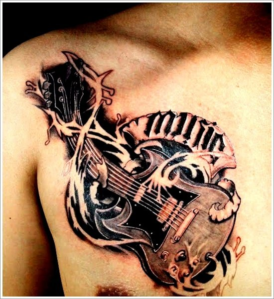 guitar tattoo designs (12)