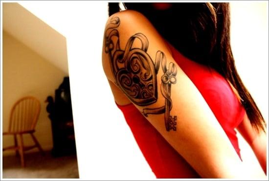 lock tattoo design (21)