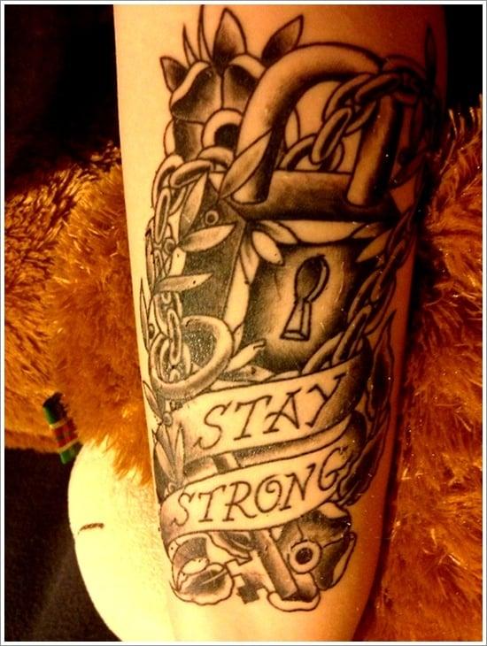 lock tattoo design (27)